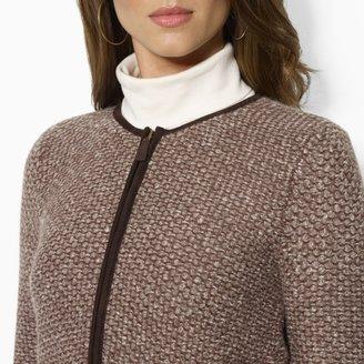 Ralph Lauren Full-Zip Tweed Cardigan