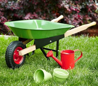 Pottery Barn Kids Green Wheelbarrow