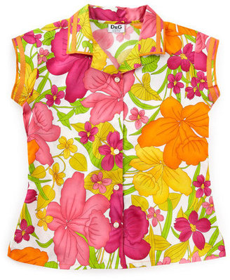 D&G Hibiscus-print Shirt