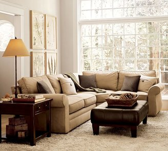 Pottery Barn Pearce 3-Piece Sectional with Wedge - Performance everydaysuede &