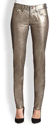 Ralph Lauren Black Label Metallic Matchstick Jeans