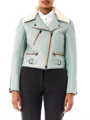 Chloé Leather and shearling biker jacket