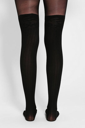 Urban Outfitters Ribbed Faux Thigh-High Tight