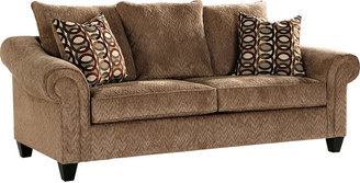 Rooms To Go Sierra Dunes Light Brown Sofa