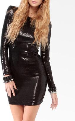 Forever 21 Sequined Long Sleeve Mini Dress