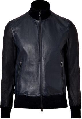 Neil Barrett Black Lambskin Bomber Jacket