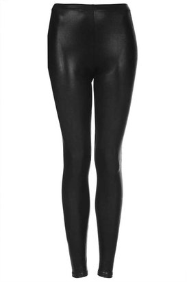 Topshop High shine wetlook leggings
