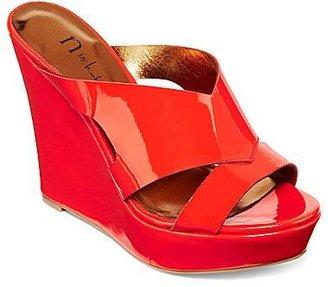 Nicole Miller n by Valerie Patent Wedge Slide Sandals
