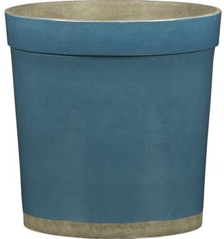 Crate & Barrel Himara Medium Teal Planter
