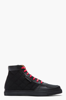 Marc Jacobs Black & Red Spring Quilt Sneakers