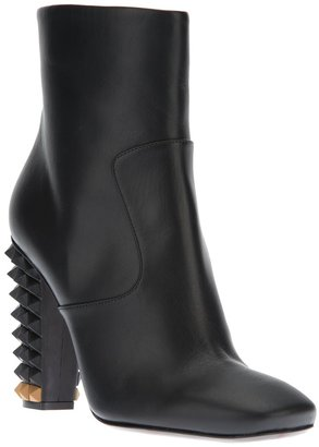 Fendi studded ankle boot