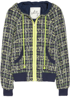 Milly Hooded lightweight tweed jacket