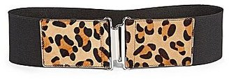 JCPenney Stretch Belt with Calf Hair Print Tabs