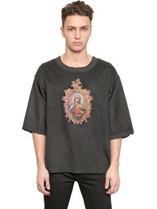 Dolce & Gabbana Cashmere Madonna Printed T-Shirt