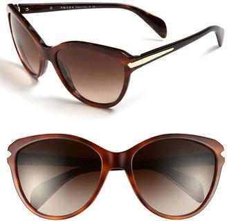 Prada 59mm Cat's Eye Sunglasses Olive/ Tan One Size