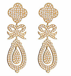 Jessica Kagan Cushman Bow Drop Earrings