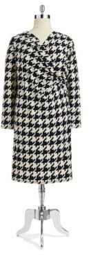 Jones New York Patterned Drape Dress