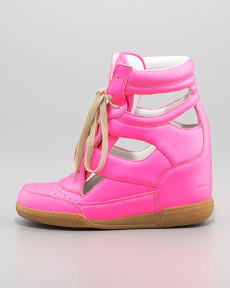 Marc by Marc Jacobs Neon Cutout Wedge Sneaker, Pink (Stylist Pick!)