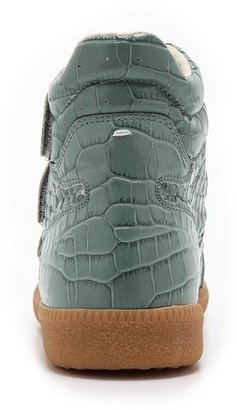 Maison Martin Margiela Croc Embossed Leather Sneakers