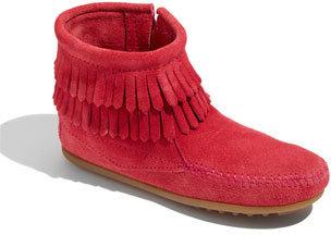 Minnetonka 'Double Fringe' Boot (Baby, Walker, Toddler, Little Kid & Big Kid)