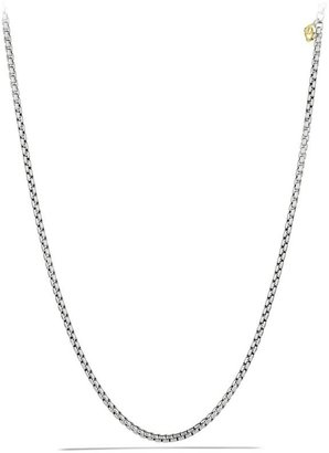 David Yurman Medium Box Chain Necklace with an Accent of 14K Yellow Gold/3.6mm