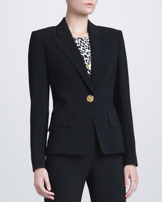 Versace Peak-Lapel Suit Jacket