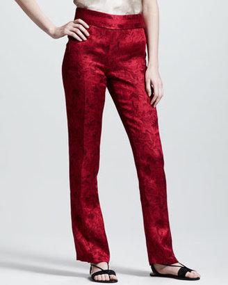 The Row Printed Gazar Tuxedo Pants