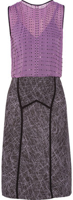 Bottega Veneta Swarovski crystal-embellished silk-chiffon and sateen dress