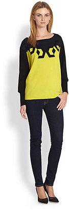 Diane von Furstenberg Floe Colorblock Intarsia Wool Sweater