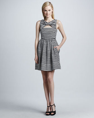 Kate Spade Vivien Dress With Bow At Neckline