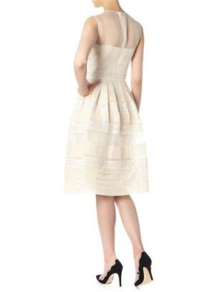 Temperley London Oyster Pleats And Lace Dress