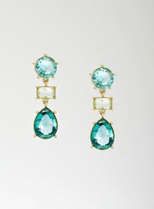 Stein & Blye 3 Jewel Linear Earrings