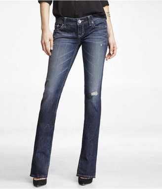 Express Ultra Low Rise Thick Stitch Barely Boot Jean