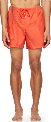 Christopher Kane Red Page Swim Shorts $395 thestylecure.com