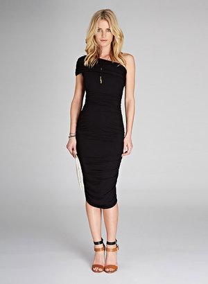 Isabella Oliver Ruched One Shoulder Maternity Dress