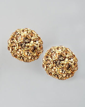A.V. Max Pave Crystal Stud Earrings