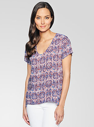 Ella Moss Paisley V-Neck Top