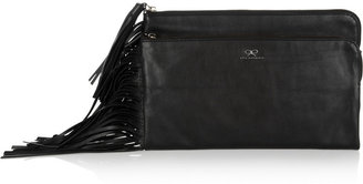 Anya Hindmarch Tassel-trimmed leather clutch