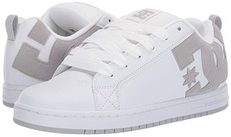 DC Court Graffik (White/Grey/Grey) Men's Skate Shoes