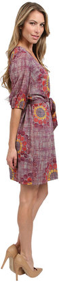Trina Turk Print Dress in Purple