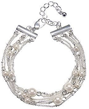 JCPenney DELICATES BY PALOMA AND ELLIE Delicates by PALOMA & ELLIE Silver-Tone Simulated Pearl Bracelet