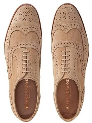 Allen Edmonds Neumok (Camel Suede) Men's Lace Up Wing Tip Shoes