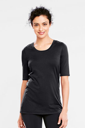 Lands' End NQP Women's Regular Elbow Sleeve Solid Performance Tunic