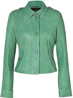 Rachel Zoe Mint Celia Leather Jacket