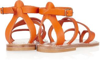 K Jacques St Tropez Epicure multi-strap leather sandals