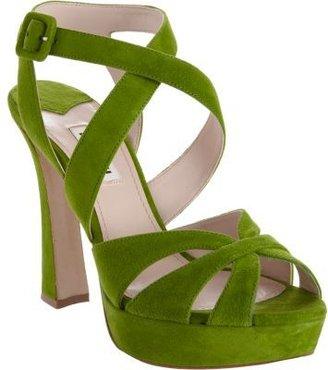 Miu Miu Criss-Cross Ankle Strap Sandal