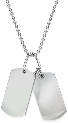 Sutton by Rhona Sutton Men's Stainless Steel Double Dog Tag Necklace $50 thestylecure.com