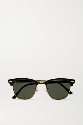 Ray-Ban - Clubmaster Acetate Sunglasses - Black $150 thestylecure.com