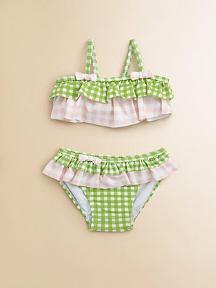 Hartstrings Infant's Two-Piece Check Ruffled Swimsuit