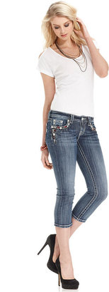 Miss Me Jeans, Cropped Skinny Medium-Wash